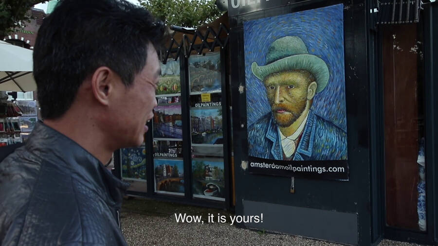 Zhao discovers his paintings in AM03.jpg